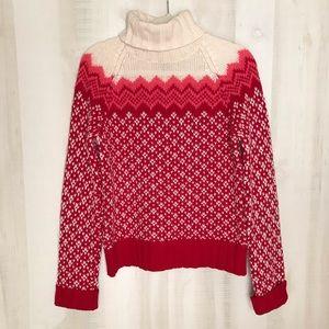 American Eagle Fair Isle Nordic Turtleneck Sweater